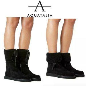 Aquatalia Camillia Waterproof Platform Boots Black
